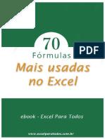 eBook - 70 Formúlas Mais Usadas No Excel