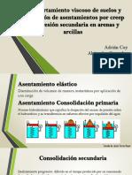 Asentamientos en arcillas por consolidacion secundaria