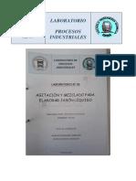 Informe Nº 5 Agitacion y Mezclado Para Elaborar Jabon Líquido