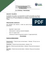 Conta 2 Cuota Laboral, Patronal y Provisiones