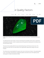Jadeite Jade Quality Factors