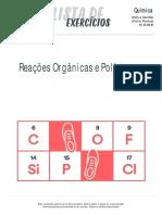 Listadexercicios Quimica Reacoes Organicas Polimeros 19-12-16