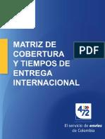 Matriz de Cobertura y Tiempos de Entrega Internacional