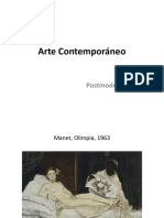 arte contemporáneo - clase  9 (postmodernismo, paso rápido)