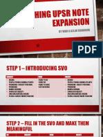 Teaching Upsr Note Expansion