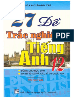 27 Đề Trắc Nghiệm Tiếng Anh 12 Có Đáp Án – Lưu Hoằng Trí.pdf