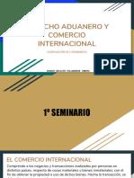 Derecho Aduanero y Comercio Internacional