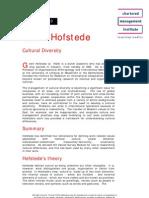 Geert Hofstede Cultural Diversity