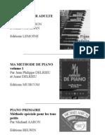 méthodes piano