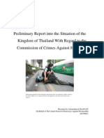 Preliminary Report into the Situation of the Kingdom of Thailand With Regard to the Commission of Crimes Against Humanity