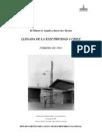 Llegada de La Electricidad a Chile (Febrero de 1883)