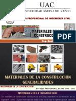 CLASE I - MATERIALES DE LA CONSTRUCCIÓN (GENERALIDADES)