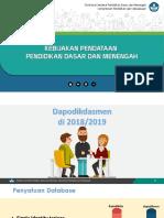 1. Dapodik_Kebijakan Pendataan Pendidikan Dasar Dan Menengah 2018-2019