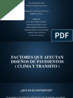 Factores Que Afectan Diseños de Pavimento