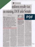 Business Mirror, Mar. 13, 2019, Pass 5% uniform royalty tax on mining, DOF asks Senate.pdf