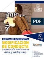 Brochure Informativo Mod. Conducta - Psique