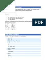 Bentuk Umum Logaritma