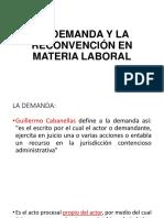 la demanda y la reconvención laboral en Guatemala