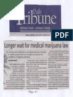 Daily Tribune, Mar. 13, 2019, Longer wait for medical marijuana law.pdf