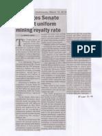 Manila Bulletin, DOF urges Senate to adopt uniform mining royalty rate.pdf