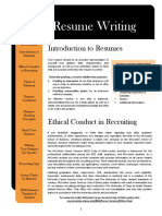 How to fill out a resume