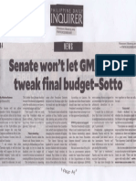 Philippine Daily Inquirer, Mar. 13, 2019, Senate wont let GMA, allies tweak final budget-Sotto.pdf