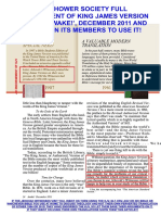 JEHOVAH'S WITNESSES / WATCH TOWER ORGANIZATION ENDORSES KJV BIBLE