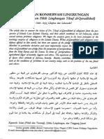 Islam Dan Konservasi Lingkungan