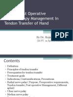 preandpostoperativemanagementintendontransfer-160610122234