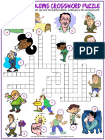 health problems vocabulary esl crossword puzzle worksheet for kids.pdf
