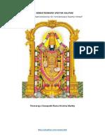 Sri Venkateswara Vratha Kalpam English
