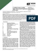power quality compensation using upqc