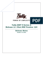 Tally Release Notes for Stat900 Version 124