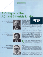 A Critique of the ACI 318 Chloride Limit