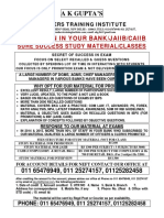 Bank Promotion Study Mat July 15