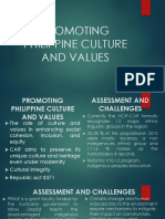 Promoting Philippine Culture and Values