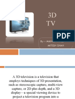 PRESENTATION ON 3D TV