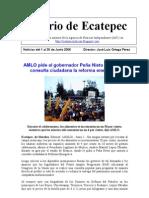 Diario de Ecatepec Noticias del 1 al 30 de junio