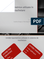 Unități tipometrice PREPRESS