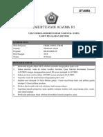 Soal Utama Fikih-ushul Fikih Ma 2017-2018
