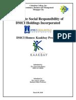 CSR of DMCI Holdings