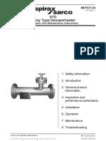 STD Spray Type Desuperheater-Installation Manual