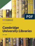 Cambridge University Library Report 2018