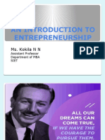 An Introduction to Entrepreneurship