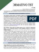 2019 Informativo Tst Cjur n0191