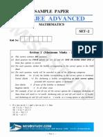 JEE Advanced 2019 Mathematics Sample Question Paper-II