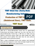TMT Steel Bar (Saria/Rod) Manufacturing Industry