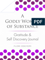 A Godly Woman Of Substance Gratitude & Self discovery Journal