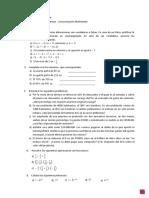 Ingreso Matemática