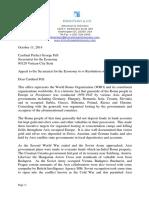 Letter to Cardinal Pell - World Roma Organization
